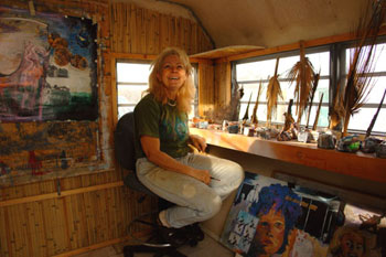Reeba Barrows in her studio
